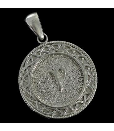 Aries Colgante astrologico de metal Nebula