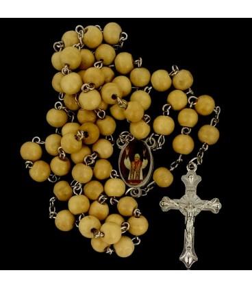 Rosario de madera  Papa Benedicto XVI beig
