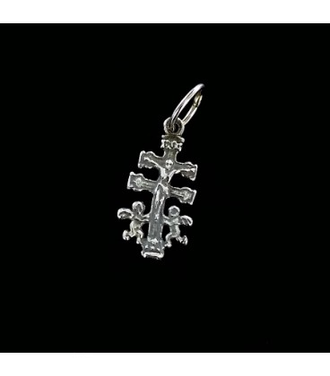 Cruz de Caravaca de plata. Mini