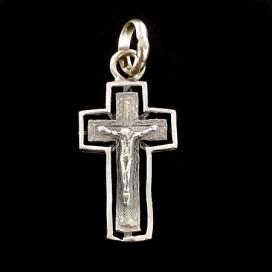 Crucifijo Románico. Plata