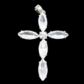 Crystal and silver cross