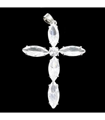 Cruz de cristal y plata