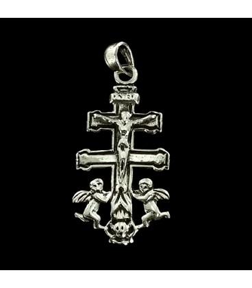 Cruz de Caravaca de plata