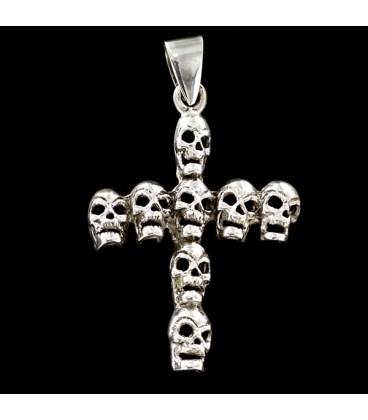 Silver Skulls Cross