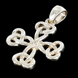 Silver Celtic Knots cross