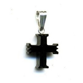 Cruz Asturiana de Azabache y plata