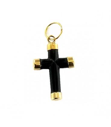 Cruz de Azabache y Oro