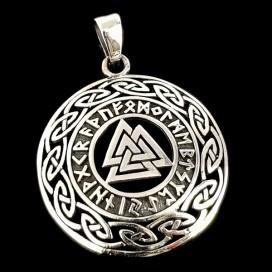 Valknut. Silver pendant.
