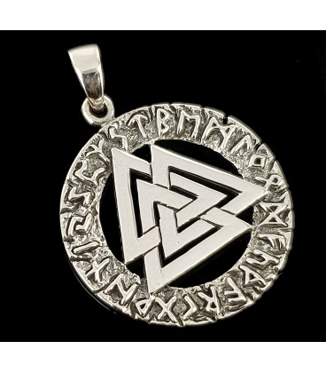 Valknut silver pendant