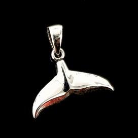 Colgante Cola de ballena de plata