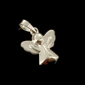 Angel de la Guarda. Plata con cadena