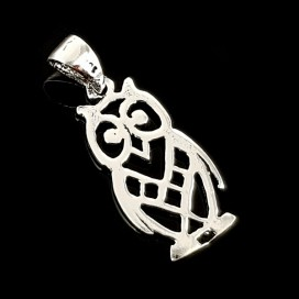 Owl. Symbol of Wisdom. Silver