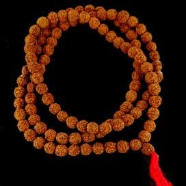 Japa Mala. Buddhist rosary. Rudraksha  Seeds
