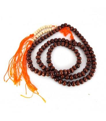 Mala. Rosario Budista. Bolas de madera