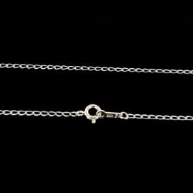 Cadena de plata primera ley 50 cm