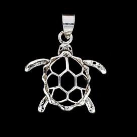 Turtle. Silver pendant