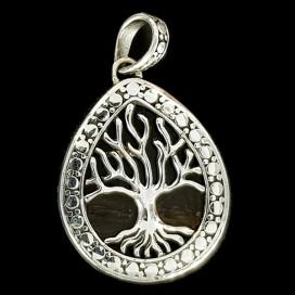 Arbol de la Vida. Colgante de plata y madera