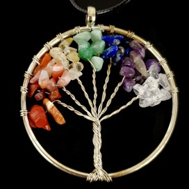 Chakras stones Tree of Life