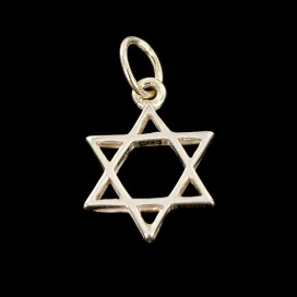 Star of David. Silver pendant