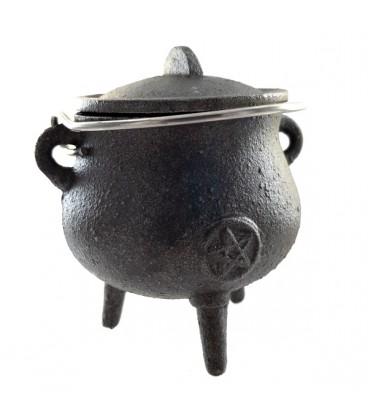 Cast iron pot. Black