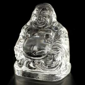 Buda sonriente de cuarzo