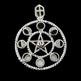 Pentaculo Lunar de plata