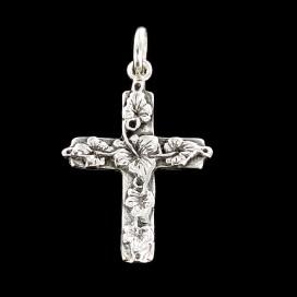 Flowers silver Cross