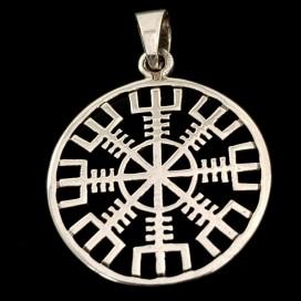 Aegishjalmur silver pendant