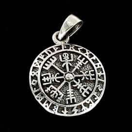 Vegvisir silver pendant