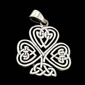 Trebol Celta de la Buena Suerte con Anillo de Claddagh