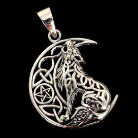 Wolf. Silver pendant