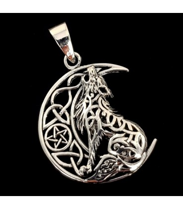 Wolf. Silver pendant
