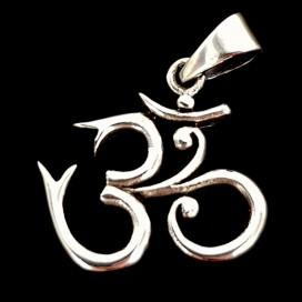 OM sacred sound. Silver