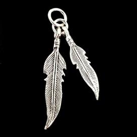 Hopi  Feathers. Silver pendant