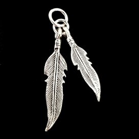 Hopi  Feathers. Silver pendant