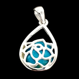 925 Sterling Silver Mounted white Nacre Pendant