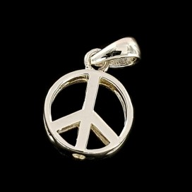 Peace symbol. Sterling silver pendant