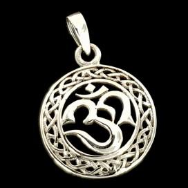 Simbolo Om de plata con cadena