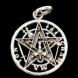 Tetragramaton. Plata con cadena