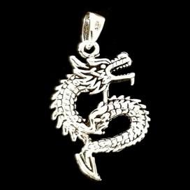 Dragon colgante de plata de ley