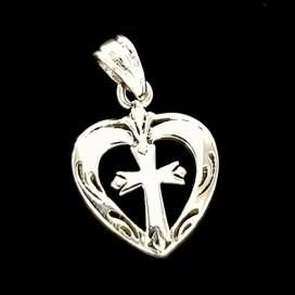 Sacred Heart. Sterling silver