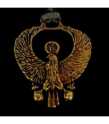 Disco del Buitre Real Egipcio. Colgante