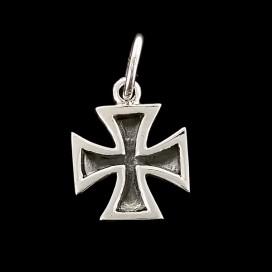 Cruz Templaria o Cruz Pate. Plata de ley