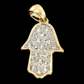 La Mano de Fátima de chapada de oro