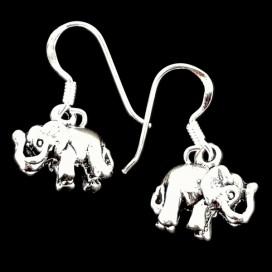Pendientes Elefantes de plata ley 925