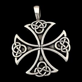 Celtic Cross pewter pendant