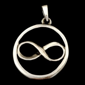 Infinity symbol. Pewter pendant