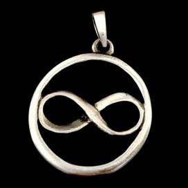 Colgante símbolo infinito. Peltre