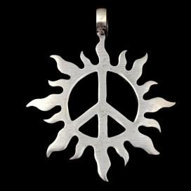 Sol con simbolo de la paz. Colgante