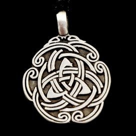 Triquetra pewter pendant with cord